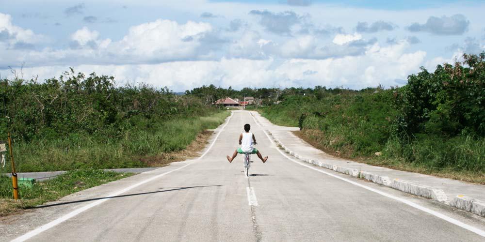 石垣島の一本道